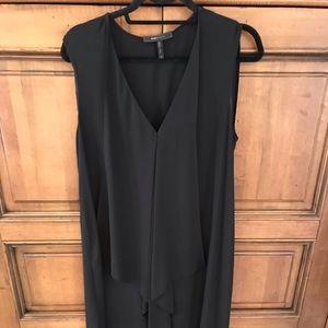 Black asymmetrical sleeveless BCBG Dress